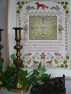 'Puzzle Maze'.,,,,,Beautiful Cross Stitch and Embroidery Kits from Maggie Gee Needlework Studio on Etsy, Ebay, and Facebook...