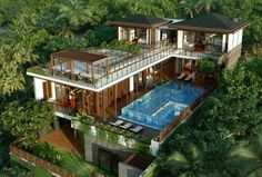 Wonderful Picture of Tropical Home Design Ideas. Tropical Home Design Ideas Luxurious Tropical House With A Pool In Na Model Tropical Style Modern Tropical House, Tropical House Design, Tropical Houses, Modern House Design, Tropical Style, Tropical Paradise, Millionaire Homes, Villa Design, Sims House