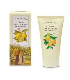 Hands cream with lemon extract and oil. L'Erbolario - Lodi (Milan)