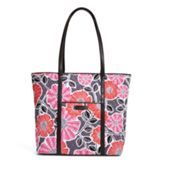 Saw this in person today and I am in love!!!   Trimmed Vera in Cheery Blossoms with Black Trim | Vera Bradley