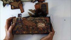 Graphic 45 Steampunk Spells envelope mini album tutorial finish album - Anne Rostad