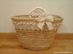 18 (480x360, 59Kb) Hessian Bags, Artist Bag, Lace Bag, Diy Sac, Ethnic Bag, Summer Handbags, Bow Bag, Diy Tote Bag, Basket Bag