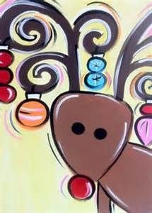 Image result for Reindeer Painting with a Twist