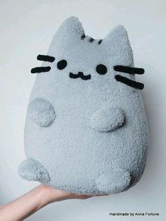 Pusheen The Cat Handmade Plush Toy idea Softies, Plushies, Cute Crafts, Diy And Crafts, Pusheen Cat, Pusheen Plush, Cute Pillows, Diy Pillows, Cute Plush