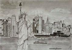 New York  Cloe  Pinterest  Lpiz y Dibujo