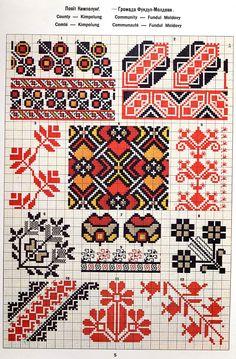 FolkCostume&Embroidery: Ukrainian and Romanian embroidery of Bukovyna-Bucovina Palestinian Embroidery, Hungarian Embroidery, Folk Embroidery, Cross Stitch Embroidery, Embroidery Patterns, Cross Stitch Borders, Cross Stitch Designs, Cross Stitching, Blackwork