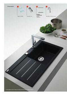 lavello cucina da incasso in #ceramica con #tagliere #Duravit #Kiora ...