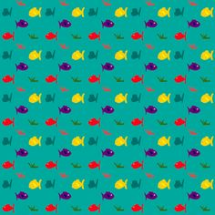 ✄ FREE digital and printable FISH pattern /  scrapbooking & wrap paper