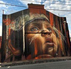 Nuovo pezzo dello street artist australiano Adnate aMelbourne