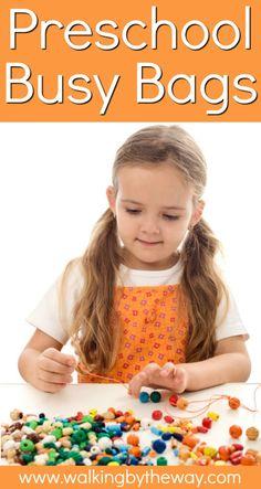Preschool Activity Bags - Walking by the Way Preschool Activities At Home, Preschool Education, Preschool Science, Hands On Activities, Toddler Preschool, Activities For Kids, Activity Bags, Busy Boxes, Preschool Lesson Plans