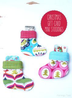 Christmas Gift Card Mini Stockings