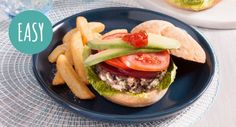 Trust us, there's no beating this tasty homemade vegetarian Black Bean Burger!  #beans #yummy #recipe