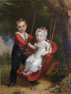 George Dawe. Portrait of Alexander and Maria, children of Russian Emperor Nicholas I. 1821.