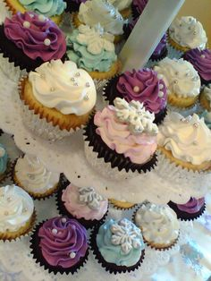 Cupcake Tower Wedding Cakes Winter