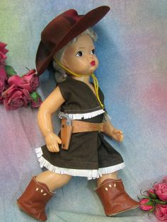 "Vintage 1950 Doll Clothes for 16"" Platinum Terri Lee Cowgirl"