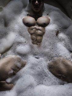 Nipple bath lathered sucked