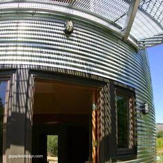 Arquitectura de Casas: Casa en dos silos reciclados unidos en Estados Unidos.