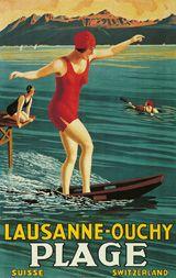 a vintage tourism-ad for Lausanne/Switzerland