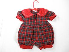 Baby Girls Plaid Jumper All in One Size 3 by ThePoshBabyShoppe