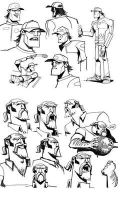 Characters The art of genndy tartakovsky flatline character design Character Model Sheet, Game Character Design, Character Design Animation, Character Modeling, Character Creation, Character Design References, Character Drawing, Character Design Inspiration, Comic Character