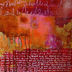 She turned her grief into gold by Jacqui Fehl - oil and cold wax on cradled board