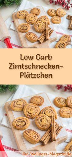 Low-Carb-Weihnachtsgebäck-Rezept für Zimtschnecken-Plätzchen: Kohlenhydratarme, kalorienreduzierte Weihnachtskekse - ohne Getreidemehl und Zucker gebacken ... #lowcarb #backen #weihnachten