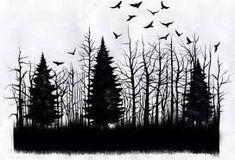 Znalezione obrazy dla zapytania forest tattoo drawing