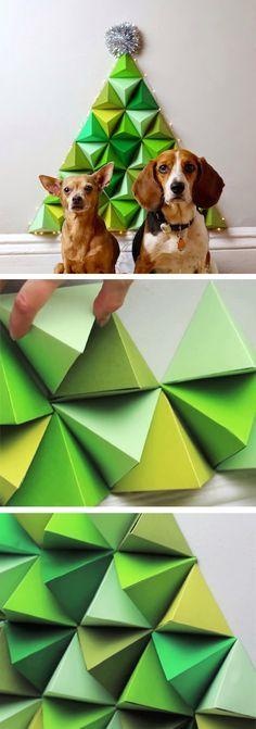 DIY Geometric Christmas Tree