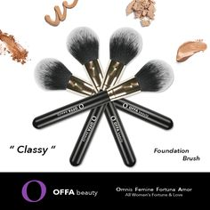 """ Classy "" Foundation Brush by OFFA Beauty"