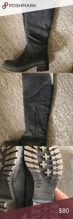 Lucky Brand Suede Over the Knee Boots Size 8. Good condition. Some wear. Lucky Brand Shoes Over the Knee Boots
