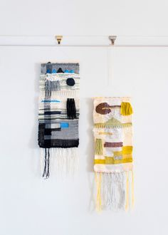 Maryanne Moodie woven tapestries / Photo by Brooke Holm