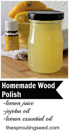 Homemade Wood Polish - The Sprouting Seed
