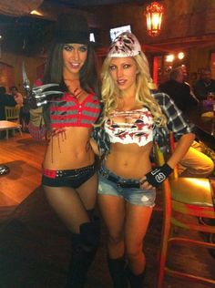 Bellator's Mercedes Terrell and Jade Bryce as Freddy vs. Jason. If I decide to go on the more revealing side.