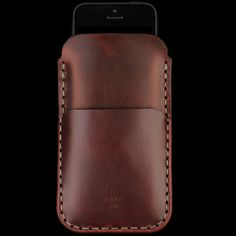 UNIONMADE - IPhone 5 Card Sleeve in Oxblood Chromexcel