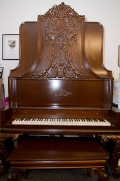 1905 Conover upright grand piano.  #RareAntiques #Pianos