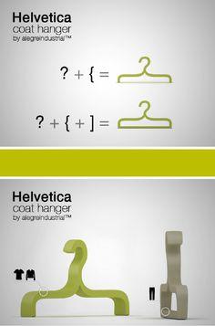Helvetica coat hanger
