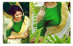 We have come up with 30 new Pattu saree blouse designs that will revamp your look. These Pattu saree blouse designs have a perfect fit and are Pattu Saree Blouse Designs, Saree Blouse Patterns, Cold Shoulder Saree Blouse, Sari Bluse, Saree Jackets, Indian Blouse, Indian Wear, Indian Sarees, Work Blouse