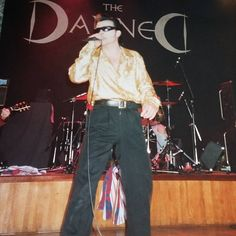 "2 Likes, 1 Comments - Phil. (@rubenjet) on Instagram: ""Dave Vanian from The Damned. Worthing Assembly Hall. 1995 i think. #davevanian #thedamned…"""
