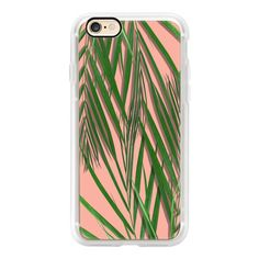 Tropical leaves on pink - iPhone 6s Case,iPhone 6 Case,iPhone 6s Plus... (2.605 RUB) ❤ liked on Polyvore featuring accessories, tech accessories, iphone case, iphone cover case, clear iphone cases, pink iphone case, apple iphone cases and iphone cases