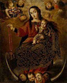 The Virgin of the Rosary, attributed to Melchor Pérez Holguín