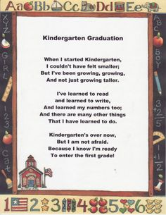 Kindergarten Graduation Speech  TeacherspayteachersCom