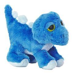 10 Aurora Plush Trey Blue Dinosaur Stuffed Animal Toy Dreamy Eyes New | eBay