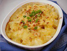 Cheesy potato bake recipe - vegetarian