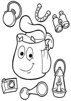 Dora Coloring, Online Coloring Pages, Free Printable Coloring Pages, Coloring Pages For Kids, Coloring Books, Coloring Sheets, Colouring, Dora Pictures, Colorful Pictures