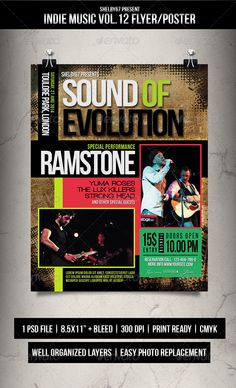 Indie Music Flyer / Poster Vol.12
