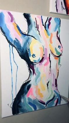 Easy Canvas Art, Acrylic Painting Inspiration, Erotic Art, Art Lessons, Creative Art, Watercolor Art, Art Drawings, Art Projects, Sexy Painting