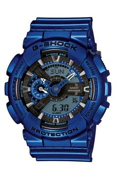 Shop men's and women's digital watches from G-SHOCK. G-SHOCK blends bold style with the most durable digital and analog-digital watches in the industry. Casio Protrek, Casio G-shock, Casio Watch, Casio G Shock Watches, Sport Watches, Watches For Men, Men's Watches, Wrist Watches, Analog Watches