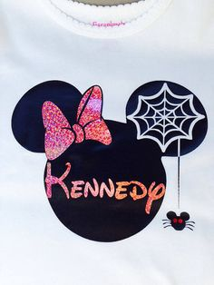 Minnie Mouse personalized Halloween shirt. by FROGgyStitches, $20.00