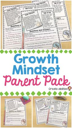 This 50 page pack has 50 different print-and-go growth, no prep growth mindset activities that your 3rd, 4th, 5th, 6th grade and home school students complete at home with a parent or guardian. Boost character education and work on communication skills. Each week covers a different growth mindset topic and includes conversation prompts and written responses. These pages work great for back to school, homework or parent night activities. (third, fourth, fifth, sixth graders) Math Resources, Math Activities, Growth Mindset Activities, Cognitive Distortions, Parent Night, 5th Grade Classroom, Dear Parents, Character Education, School Counseling