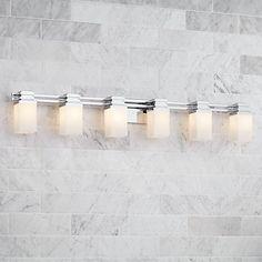 """Possini Euro Design Bennett 48 1/2"""" Wide Chrome Bath Light"""